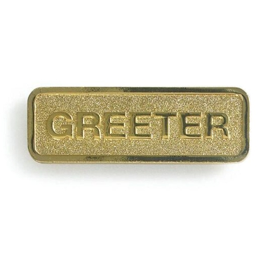 Brass Greeter Badge (Magnetic Back)