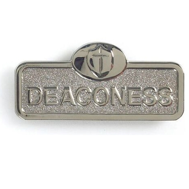 Silver Deaconess Badge With Cross (Magnetic Back)
